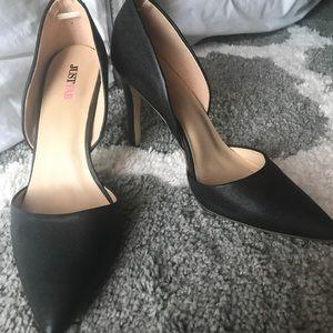 JustFab Black Heels -  Size 8